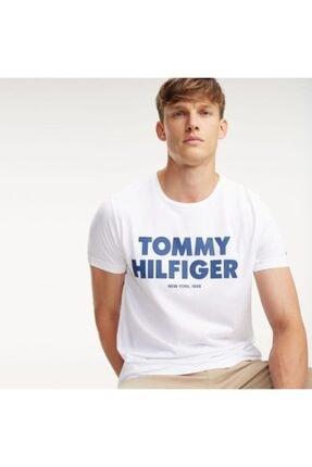 Tommy Hilfiger Erkek Beyaz Bold Logo Tshirt