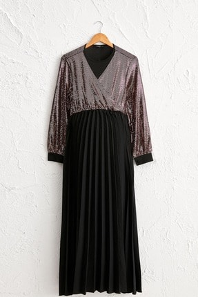 LC Waikiki Kadın Siyah Elbise 0WI281Z8