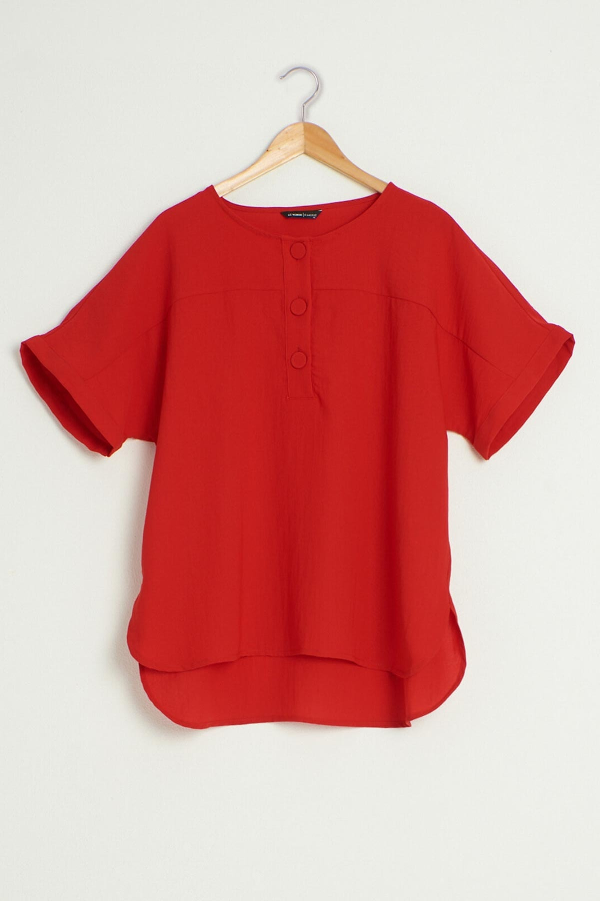 LC Waikiki Kadın Kırmızı Bluz 0WDI16Z8 1
