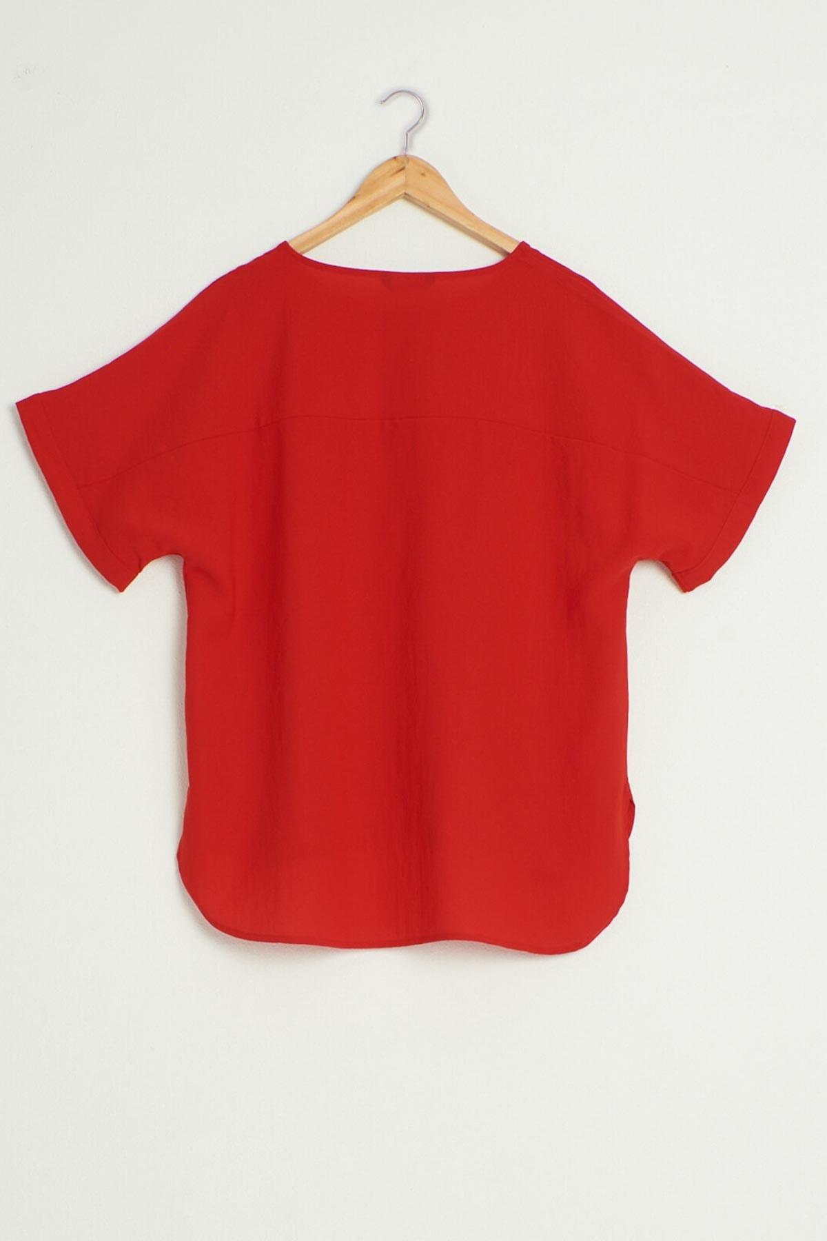 LC Waikiki Kadın Kırmızı Bluz 0WDI16Z8 2