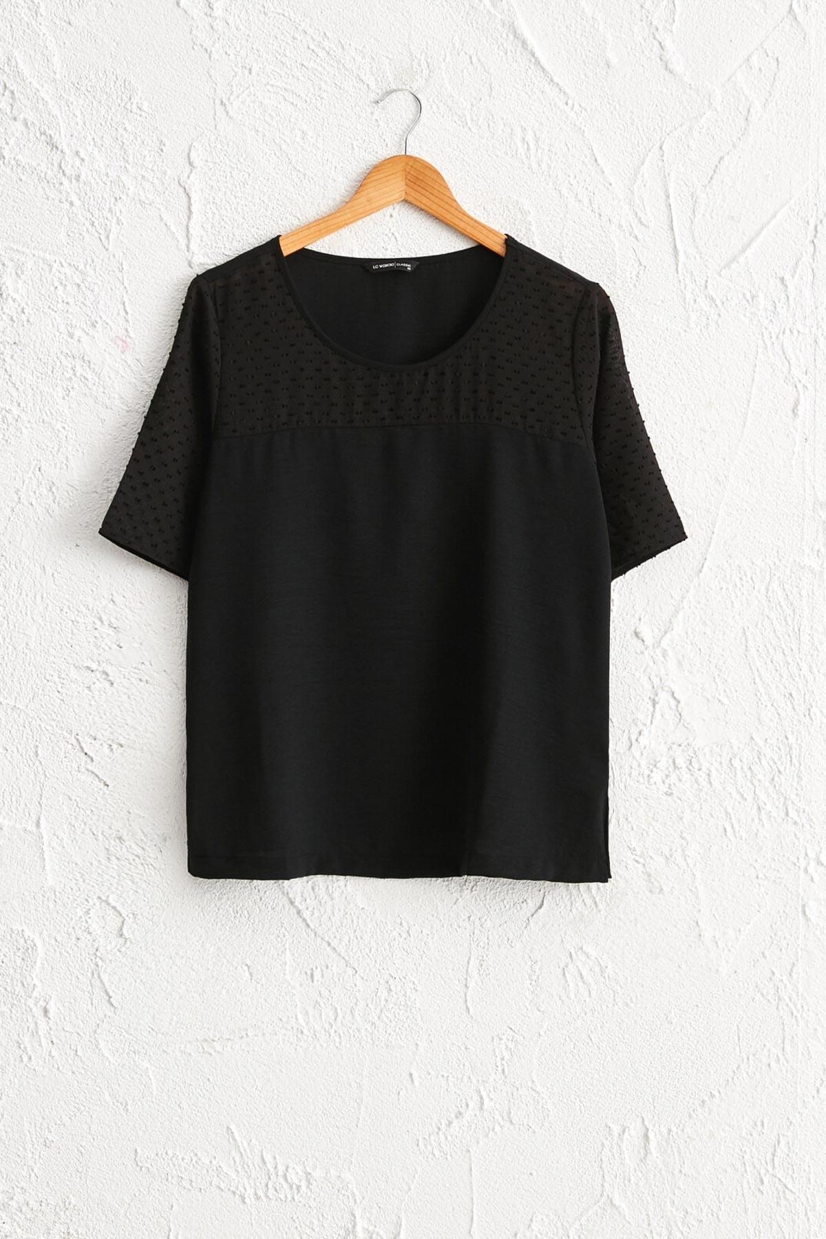 LC Waikiki Kadın Siyah Bluz 0WDI44Z8 1