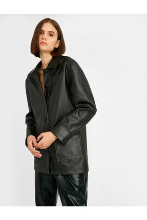 Koton Kadın Siyah Ceket