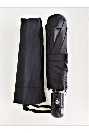 Umbrella Şemsiye Siyah Tam Otomatik Rüzgarda Kırılmayan