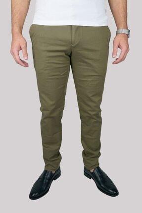 Mcr Erkek  Yeşil Slim Fit Pamuklu Pantolon 38615