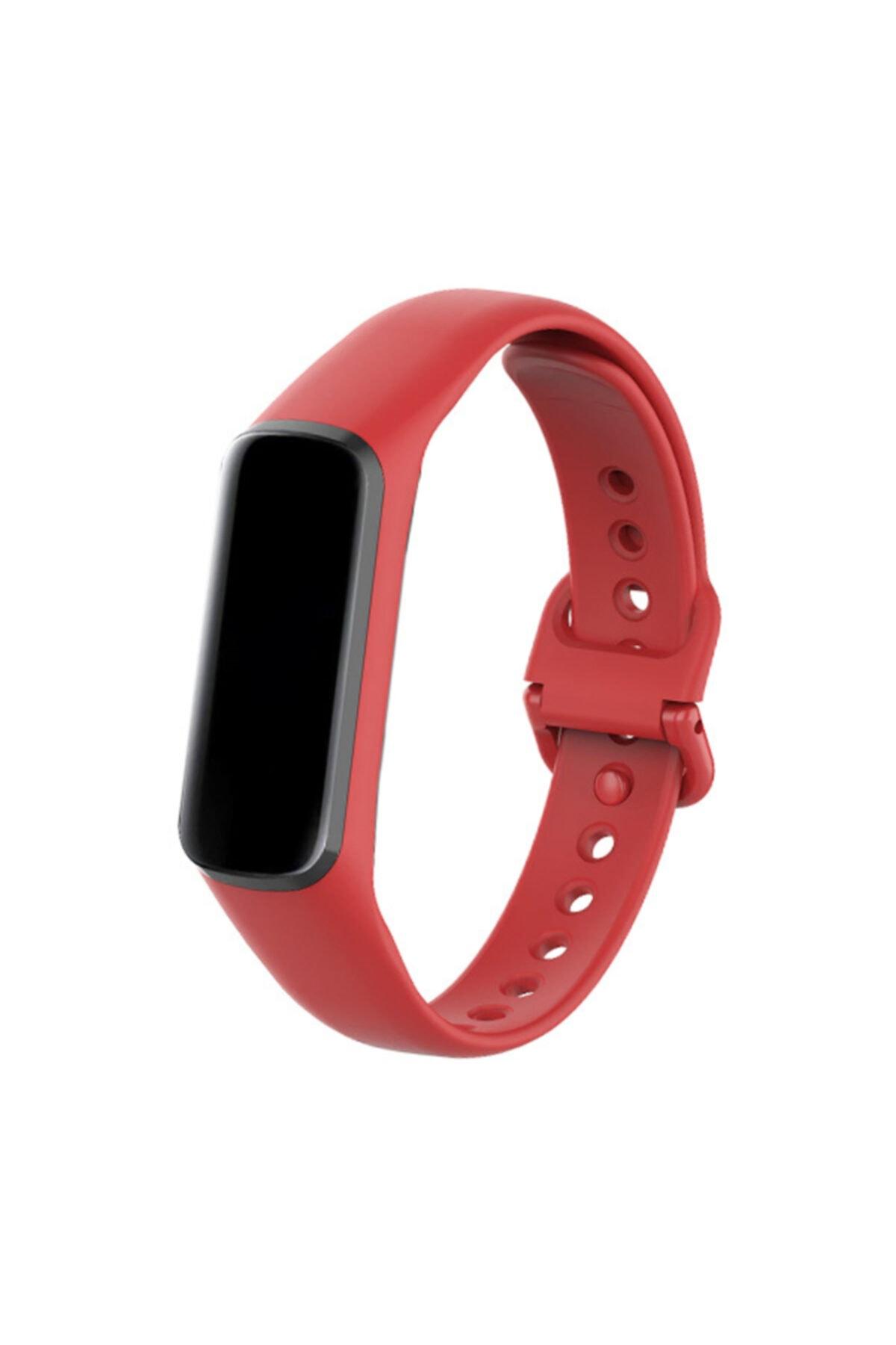 endijital Samsung Galaxy Fit E Sm-r375 Kırmızı Silikon Kordon 1