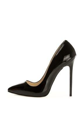 RUBRICA Kadın Ma-021 Rugan Stiletto Siyah