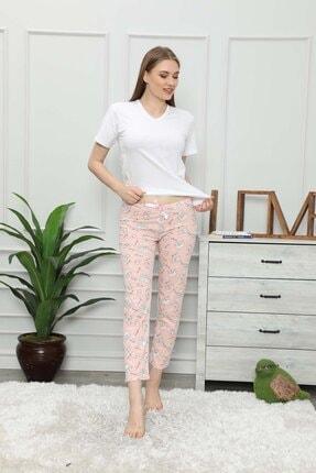 modalove Kadın Pembe Mavi Pijama Altı 2 'li Set