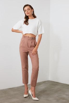 TRENDYOLMİLLA Vizon Çıtçıtlı Pantolon TWOSS20PL0131