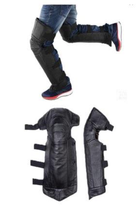Carneil Okkored Motosiklet Deri Pantolon Üzerine Giyilen Pratik Rüzgar Koruyucu Dizlik,siperlik 647sp