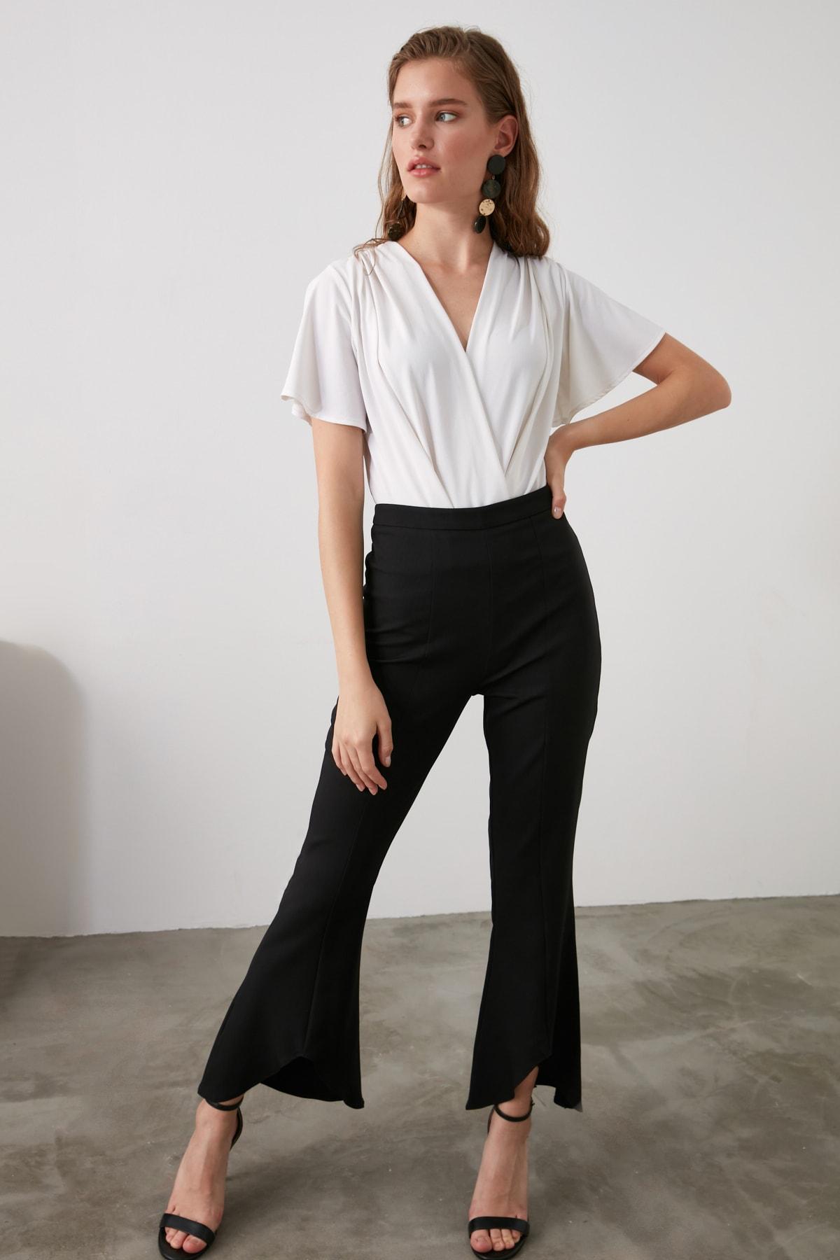 TRENDYOLMİLLA Siyah Basic Pantolon TWOAW21PL0437 1