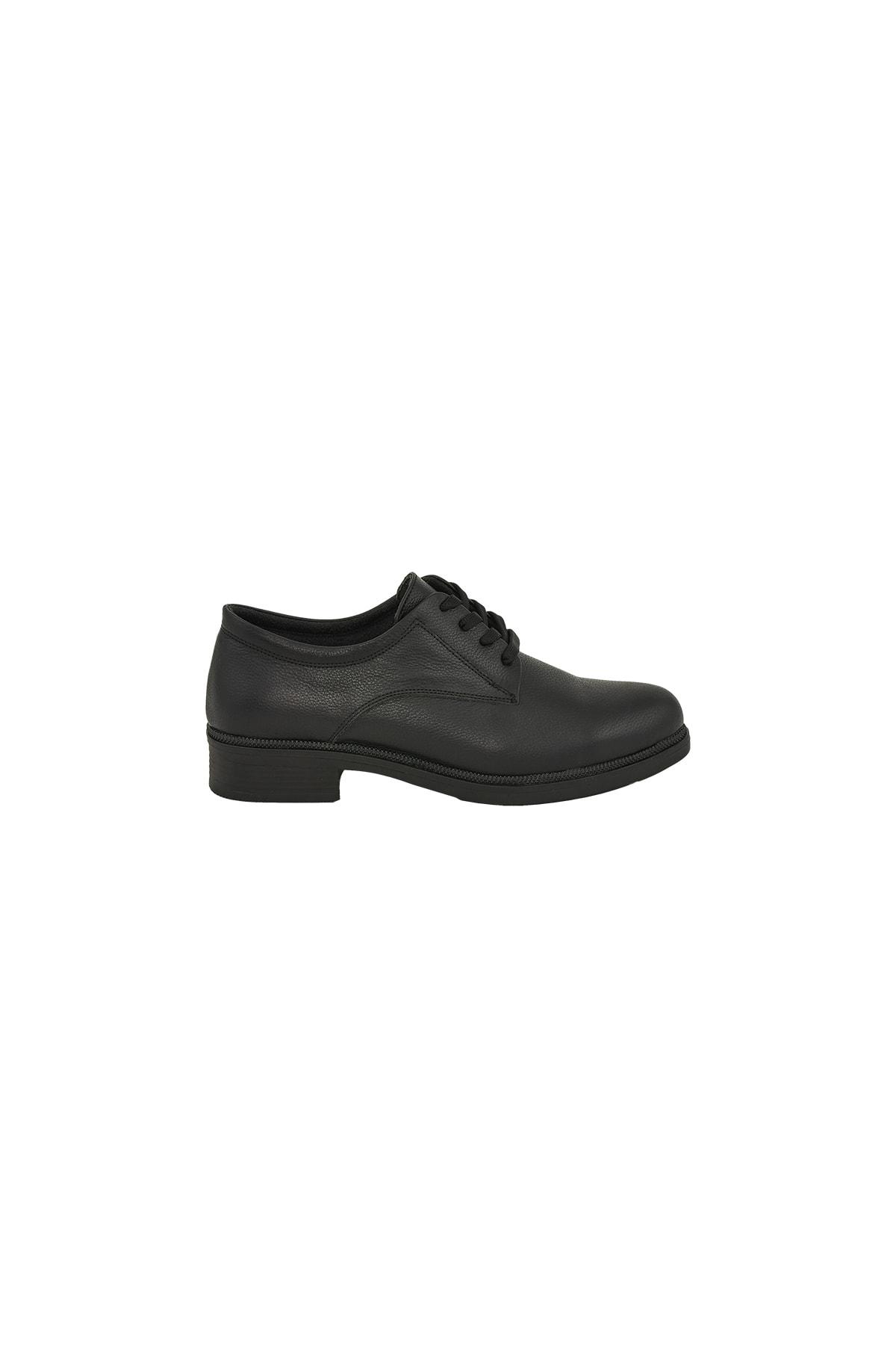 Moosefield Kadın Siyah Hakiki Deri Ayakkabı 2