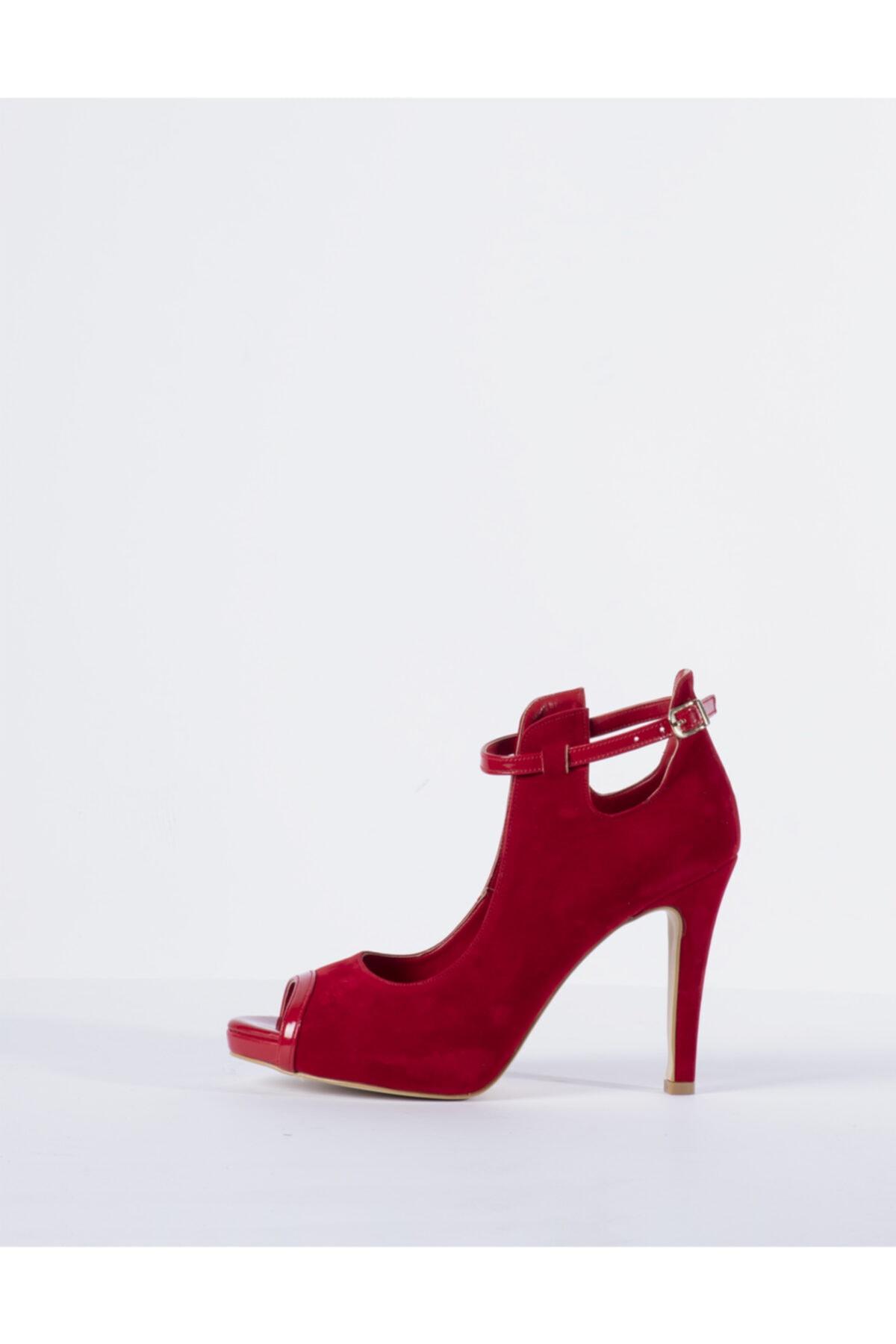 Vision Kadın Kırmızı Topuklu Ayakkabı 1