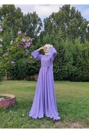 ERVA Kadın Lila Şifon Elbise