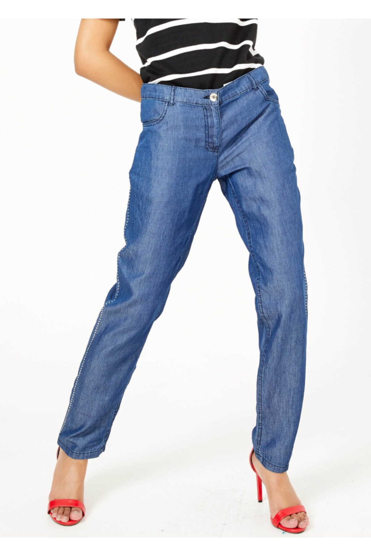 Adze Kadın Indigo Jean Pantalon 1