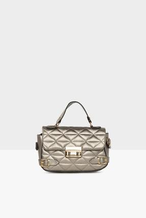 Bagmori Kadın Gümüş  Nakışlı Kemer Detaylı Mini Çanta M000005093