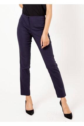 Adze Kadın Lacivert Fermuarlı Pantolon