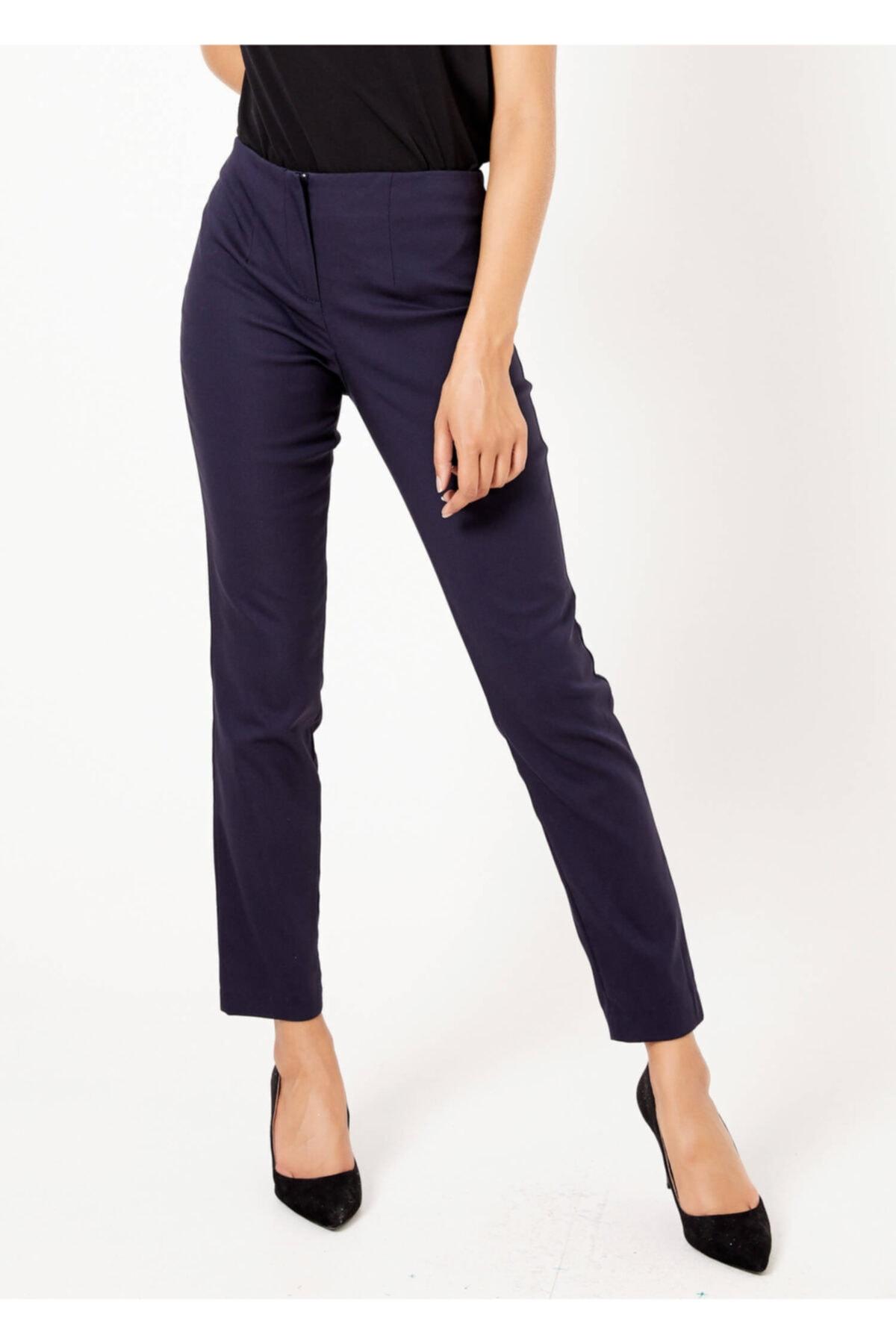 Adze Kadın Lacivert Fermuarlı Pantolon 1