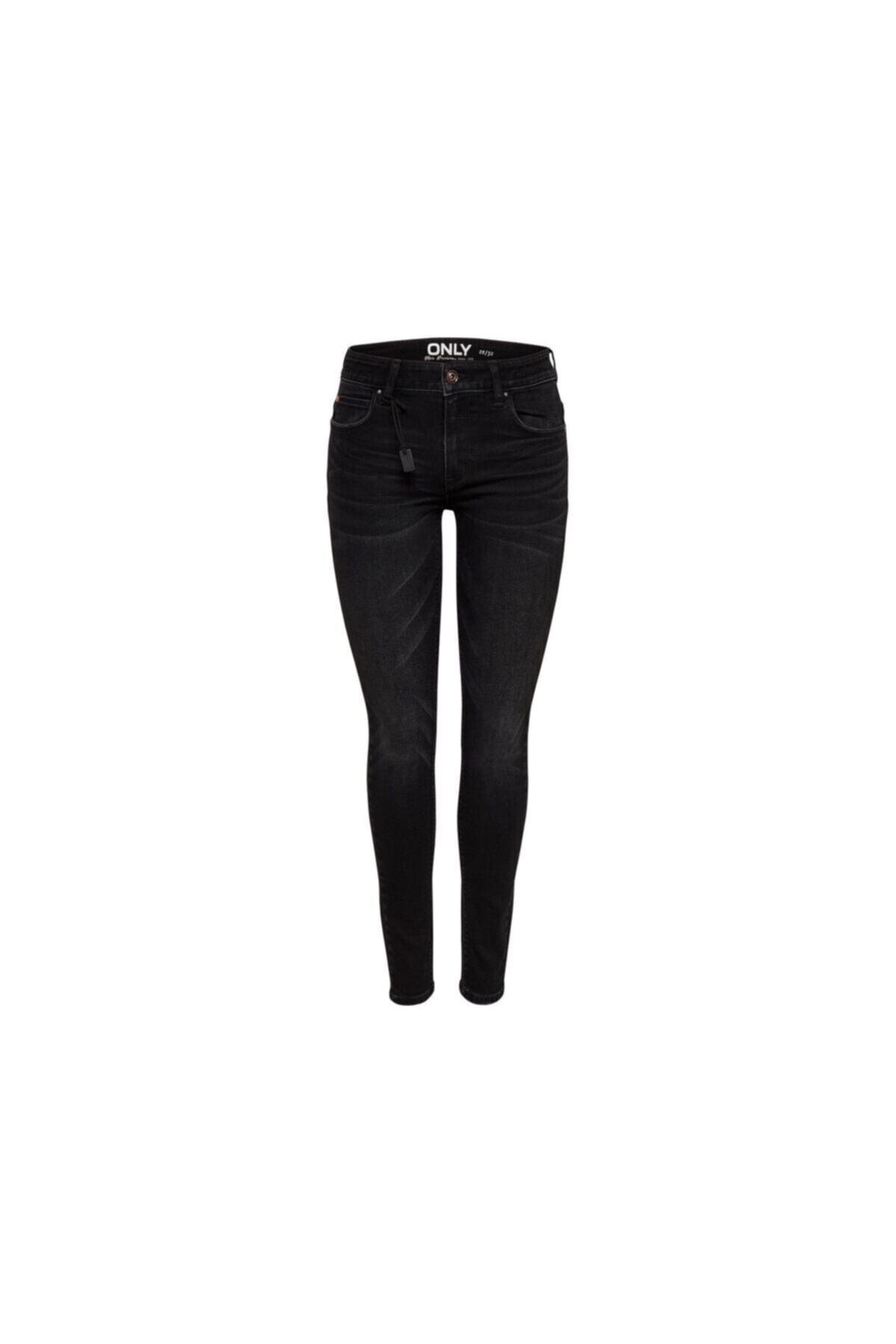 Only Kadın Siyah Onlcarmen Reg Skinny Black Dnm Jeans Cry 1