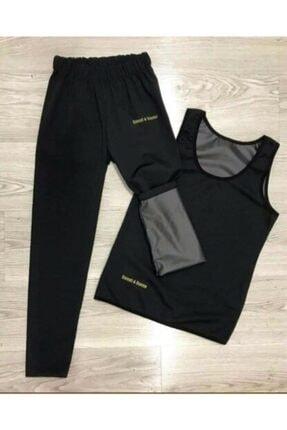 BeckhamExpress Unisex Sauna Terleme Sweat Polymer Üst Alt Atlet Tayt Termal Takım