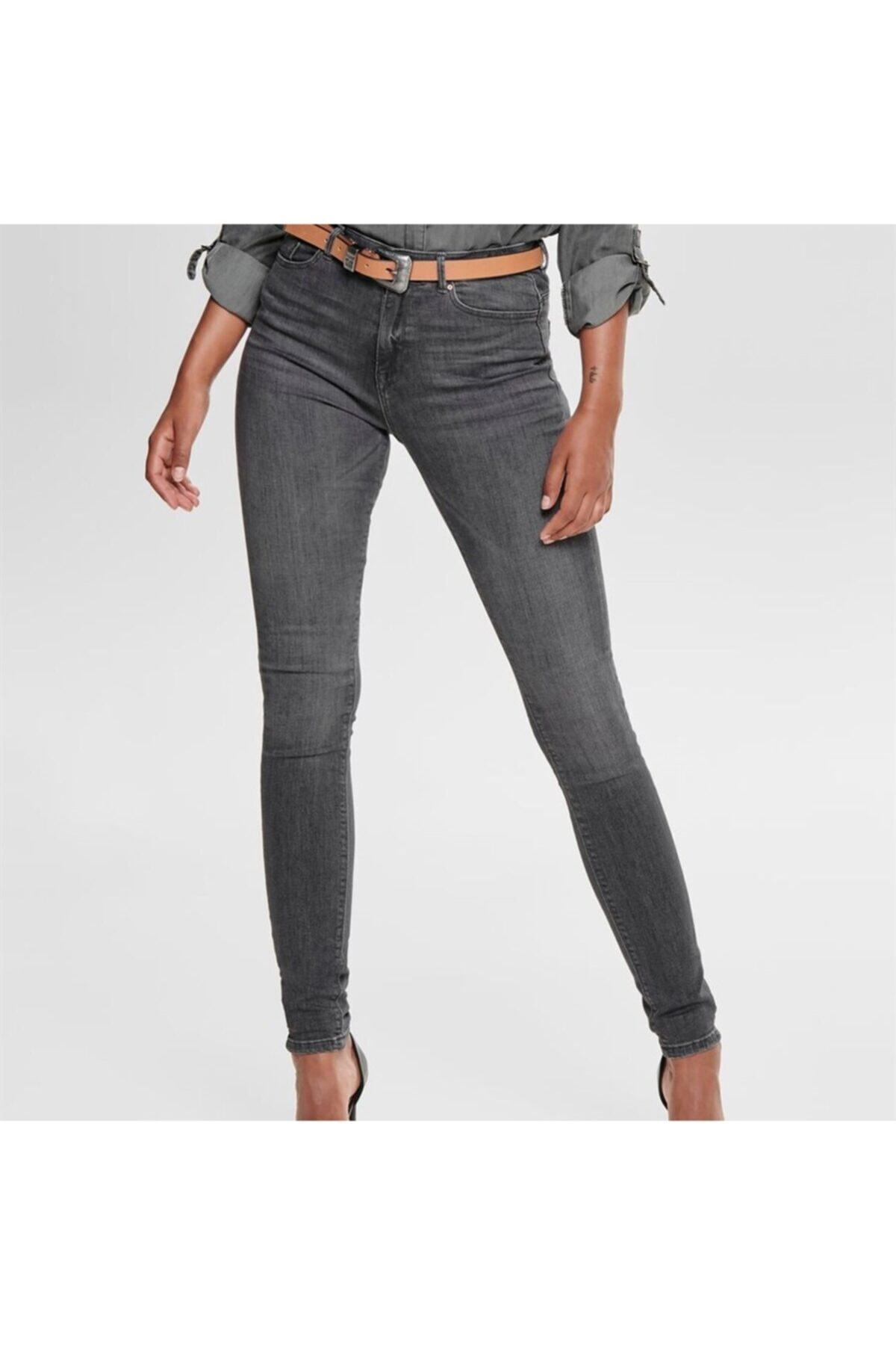 Only Kadın Gri Onlpaola Highwaist Sk Jeans - Bb Azz870 Noos 1