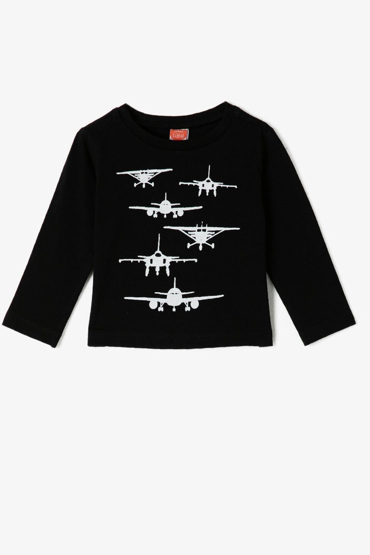 Koton Kids Siyah Erkek Bebek T-Shirt 1