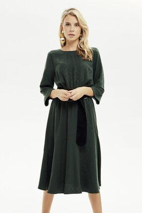 Naramaxx Beli Lastikli Kloş Elbise