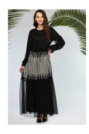 Gazella Kadın Siyah Boydan Elbise