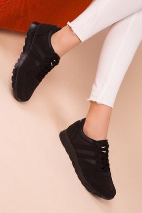 SOHO Siyah-Siyah Kadın Sneaker 15277