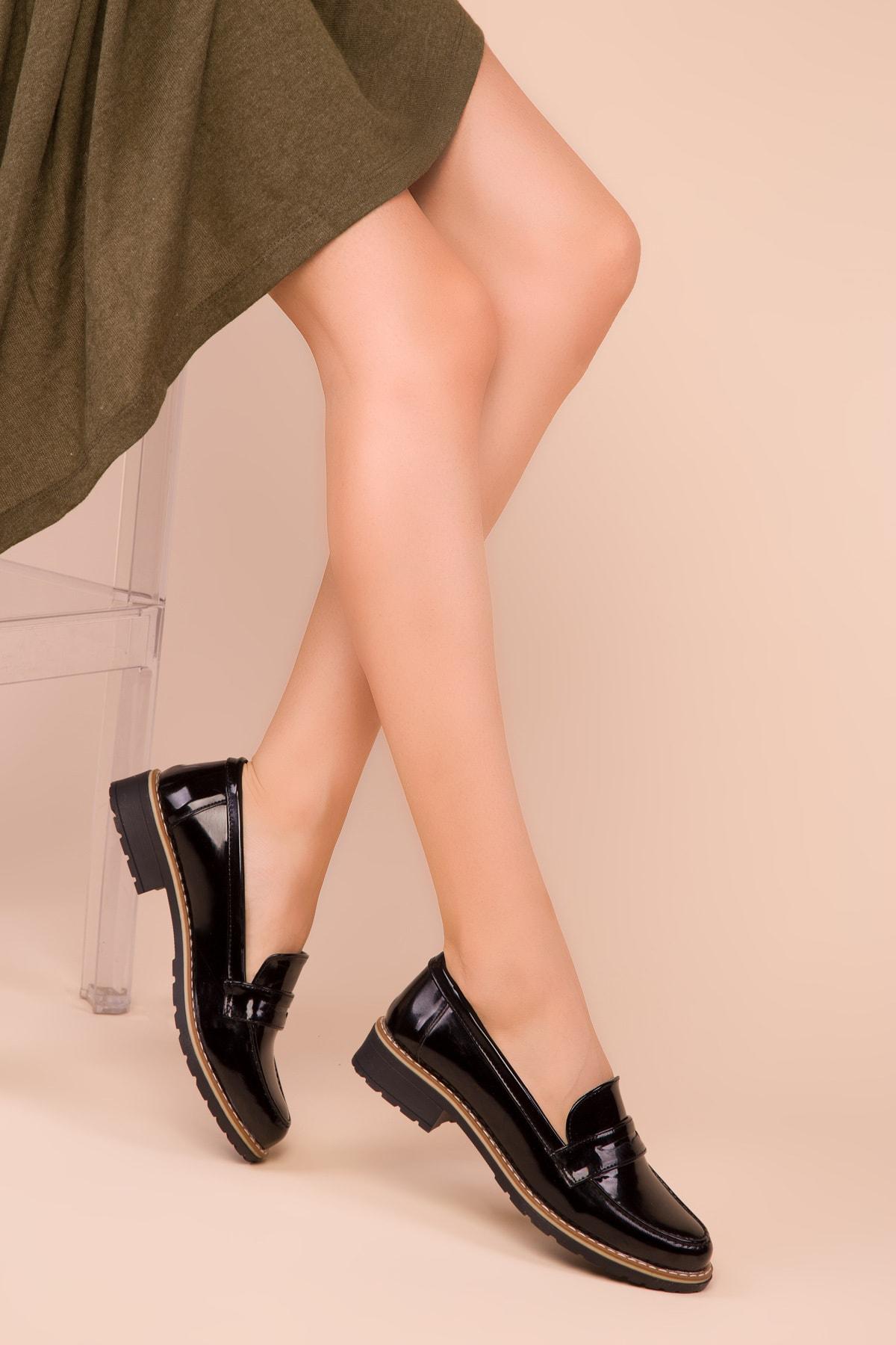 SOHO Siyah Rugan Kadın Casual Ayakkabı 15471 2