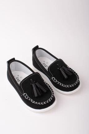 epaavm Erkek Çocuk Siyah Püsküllü Ayakkabı