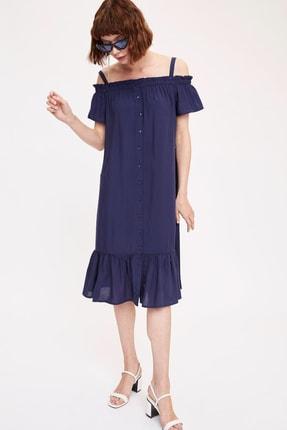DeFacto Askılı Düğmeli Oversize Fit Elbise