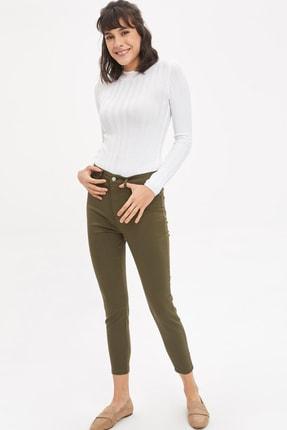 DeFacto Kadın Yeşil Anna Super Skinny Dokuma Pantolon M2223AZ.20SM.GN222