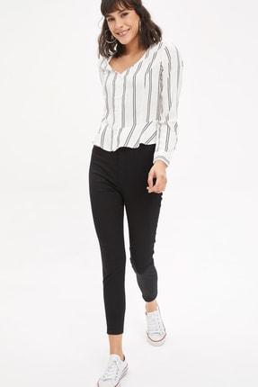 DeFacto Kadın Siyah Anna Super Skinny Dokuma Pantolon M2223AZ.20SM.BK27