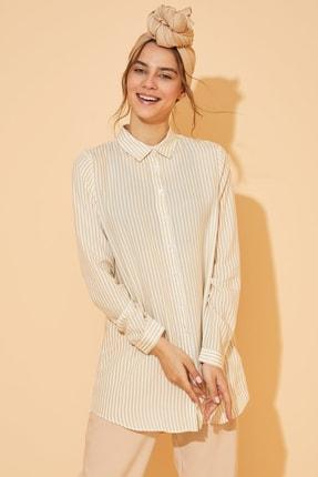 DeFacto Kadın Modest Bej Baskılı Gömlek Tunik J9614AZ.20SP.BG320