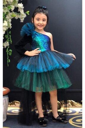 Riccotarz Kız Çocuk Mavi Tailed Sequin Abiye