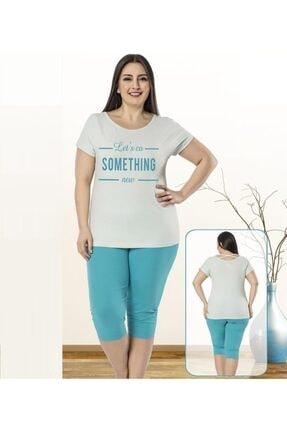 turmer Kadın Gri Uçuk Mavi Pijama Takımı