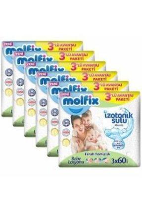 Molfix Izotonik Sulu Ferah Temizlik Islak Mendil 3x60'lı X 6 Adet