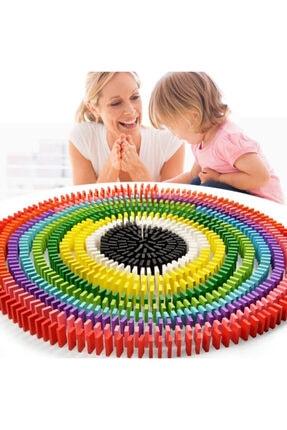 AyasEğiticiOyuncak Circle Toys Ahşap Domino Taşları 100 Parça Renkli