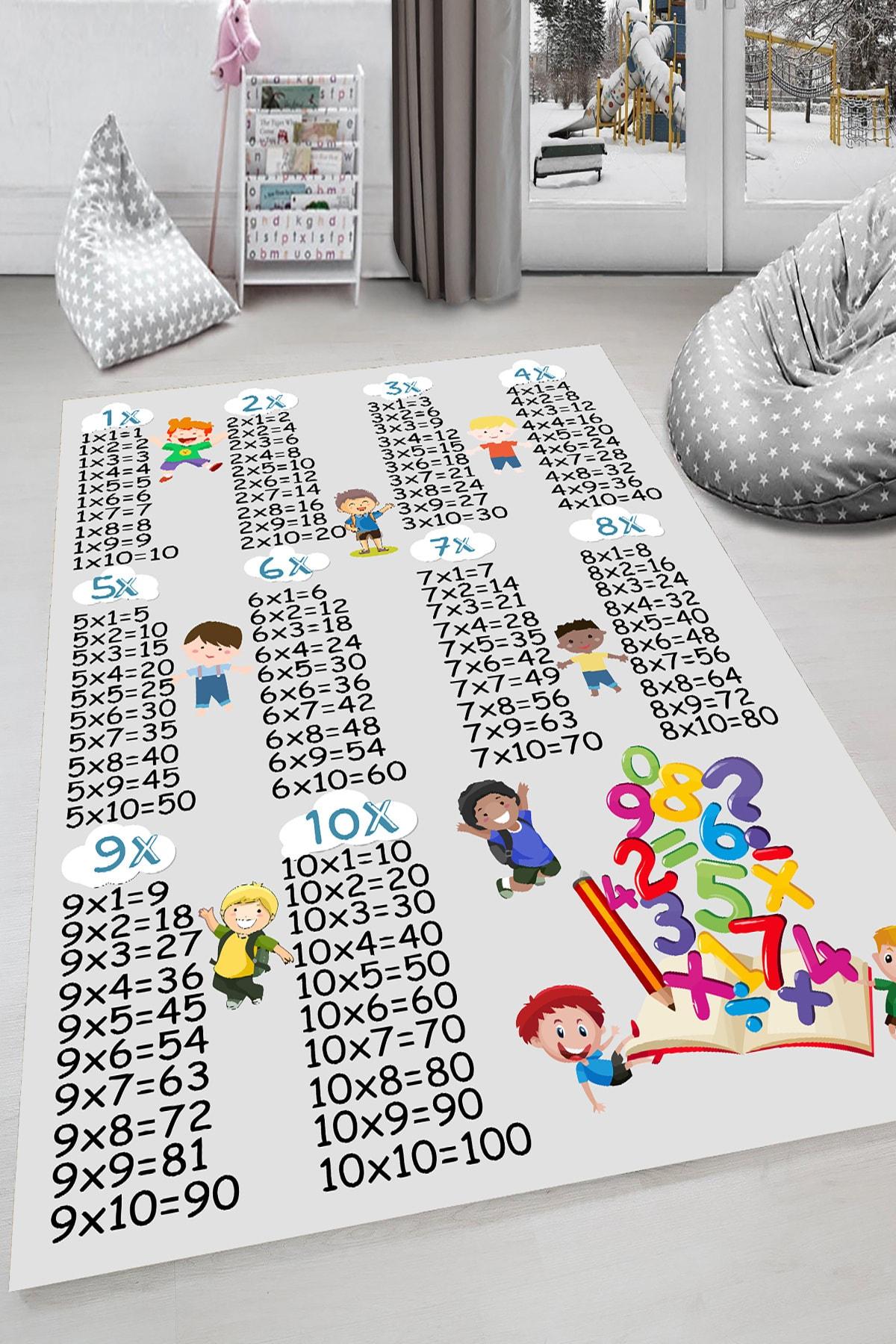 HaLıFoRuM Unisex Beyaz Kaymaz Taban 3 Boyutlu Çocuk Odası Halısı Dot-hp-674 1