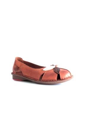 Beta Shoes Kadın Kahverengi Hakiki Deri Ayakkabı