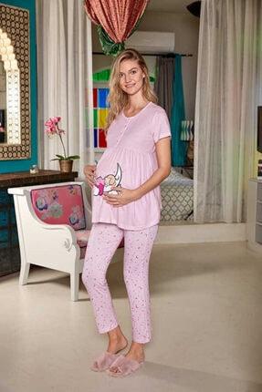 Berrak Kadın Pembe Hamile Pijama Takımı