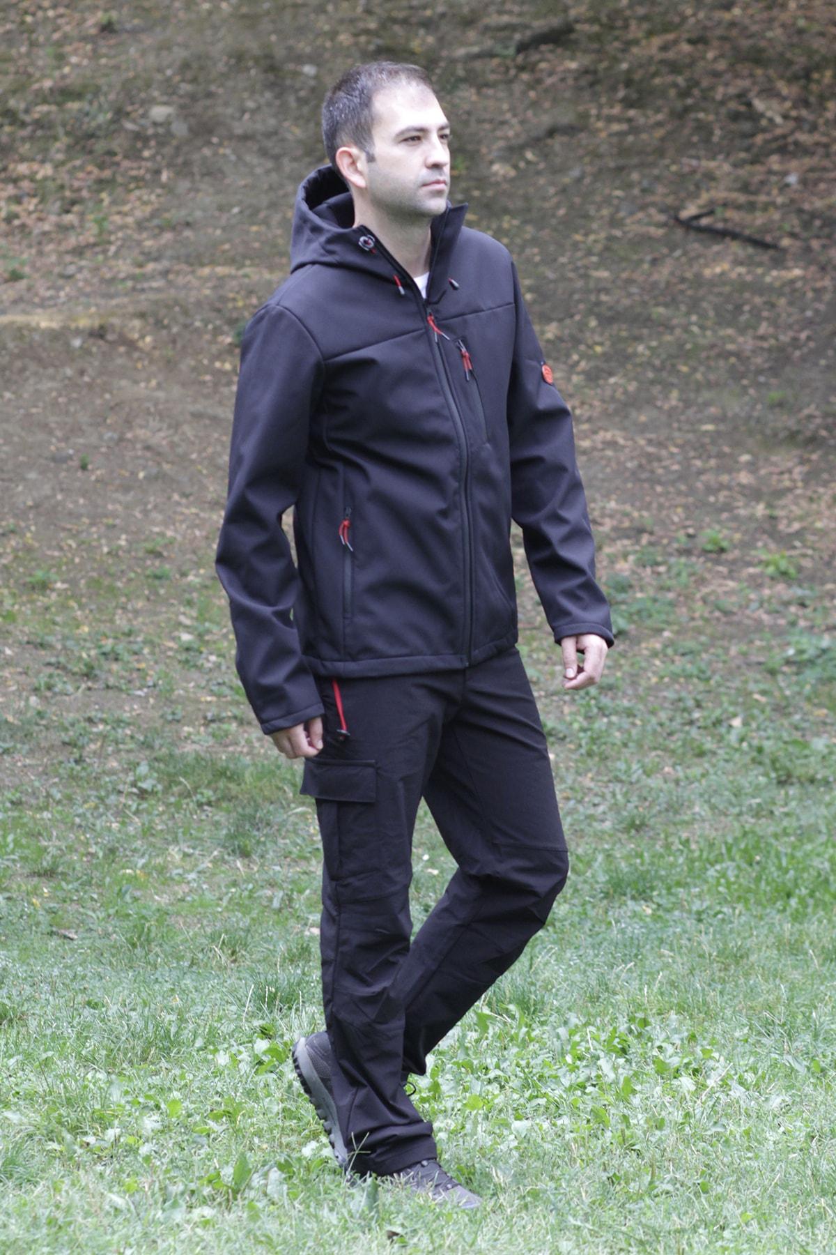 Exuma Erkek Siyah Outdoor Pantolon 2013085-010 2