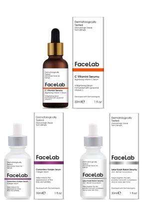 FaceLab C Vitamini Serumu + Kolajen Serumu + Leke Serumu 3'lü Set 30 ml x 3