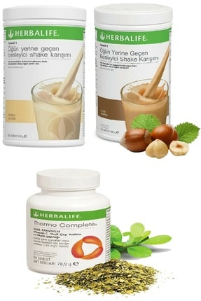 Herbalife Vanilya Shake + Fındık Shake Ve Thermo Complete