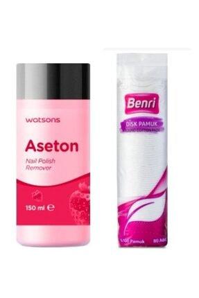 Watsons Aseton 150 ml + Disk Makyaj Temizleme Pamuğu 80 Adet