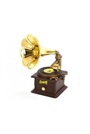 rennway Gramofon Şeklinde Takı Çekmeceli Müzik Kutusu - 1