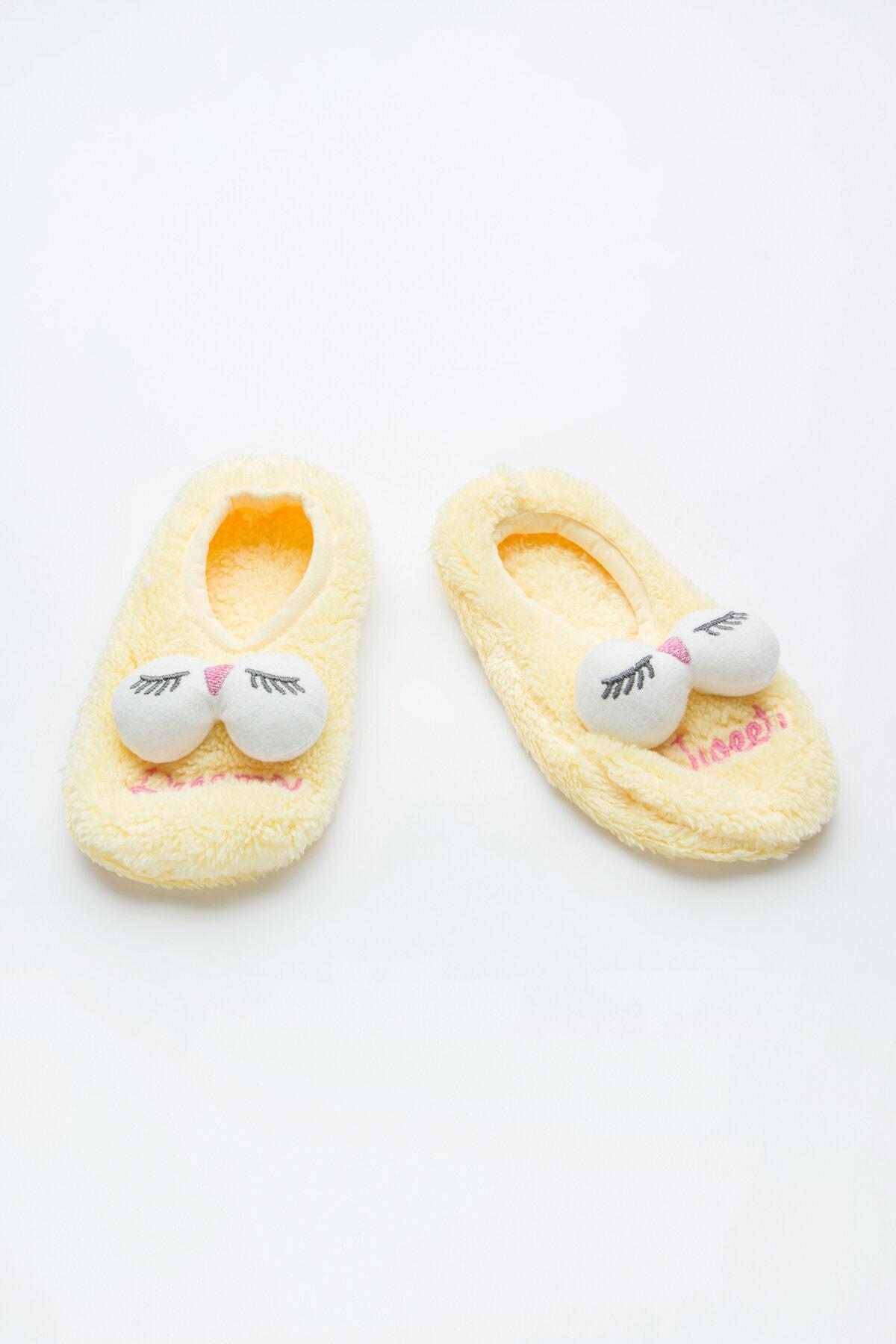 Penti Sarı Kız Çocuk Tweet Patik Çorabı