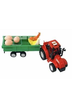 Kayyum Oyuncak Çiftlik Tavuk Yumurta Taşıyan Traktör Oyuncak