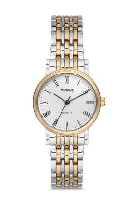Twelve Kadın Altın Gümüş Renk Luxury Series Kol Saati