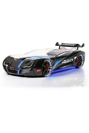 Setay Mercedes Siyah Arabalı Yatak Full Ledli + Ortopedik Yatak + Nevresim